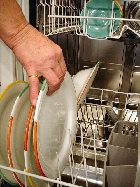 blender bottle in a dishwasher