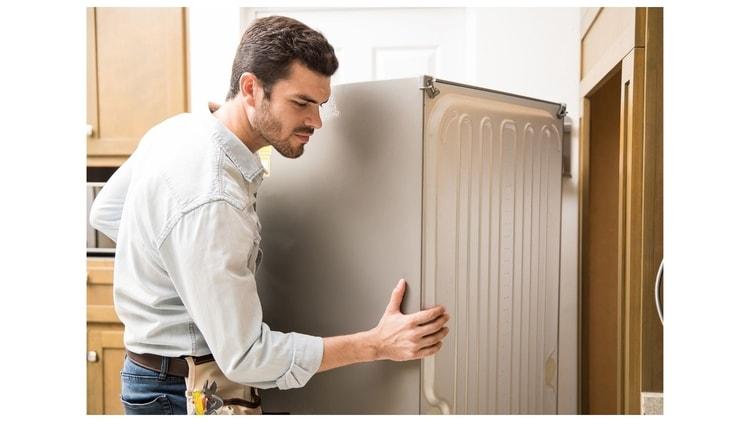 safe way to transport a refrigerator