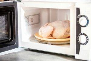 Whole Raw chicken in the Microwave